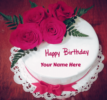 Birthday Cakes For Lover With Roses