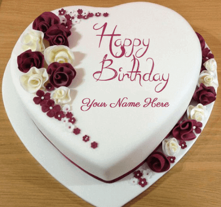 Birthday Cakes For Lovers With Roses