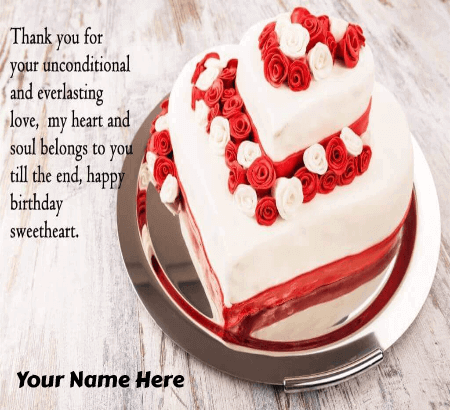 Fabulous Happy Birthday Cake For Girlfriend Unique Beautiful Cakes With Name Personalised Birthday Cards Akebfashionlily Jamesorg