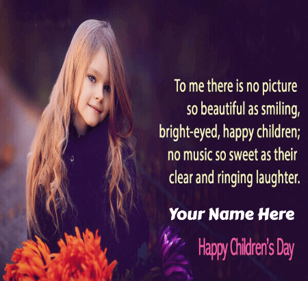 Happy Childrens Day Cards For Girls