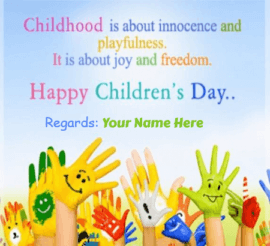 Happy Childrens Day From Principal