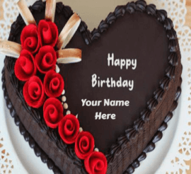 Lovely Birthday Cake With Name Edit