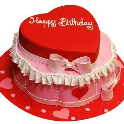 Brilliant Heart Shaped Happy Birthday Cake Beautiful Unique Cake With Name Funny Birthday Cards Online Fluifree Goldxyz