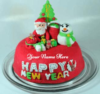 Beautiful Christmas Cake With Name