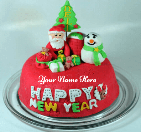 Beautiful Christmas Cake With Name