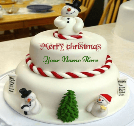 Beautiful Christmas Cakes With Name