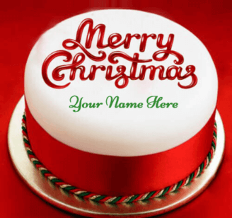 Beautiful Merry Christmas Cake With Name