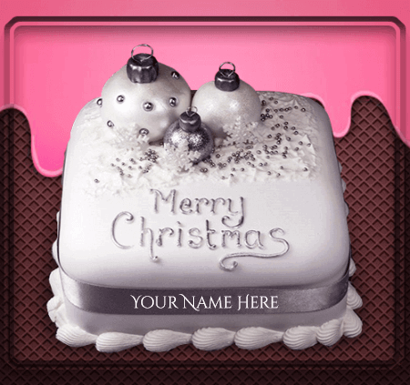 Christmas Birthday Cake With Name