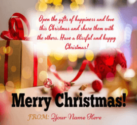 Christmas Wishes Sayings With Name