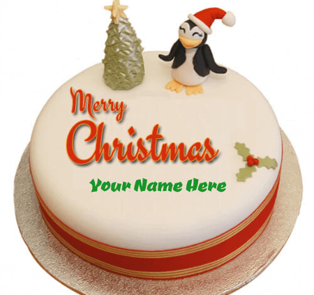 Cute Christmas Birthday Cake