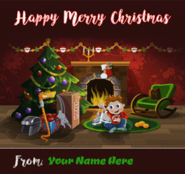 Cute Christmas Greetings With Name