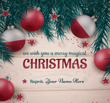 Editable Merry Christmas Greeting Card