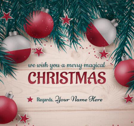 Editable Merry Christmas Greeting Card