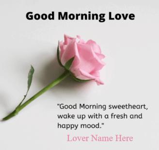 Good Morning Flower For Boyfriend