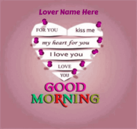 Good Morning Wish for Boyfriend