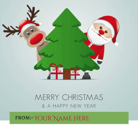 Happy Christmas Wishes With Name