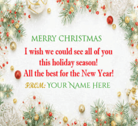 New Year Christmas Greetings