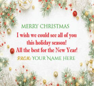 Happy New Year Christmas Greetings