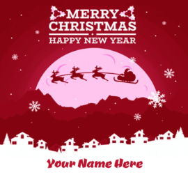 Happy New Year Christmas Wish Card