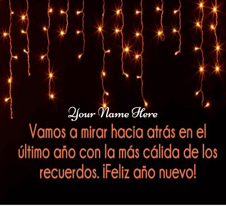 Happy New Year Greeting in Spanish