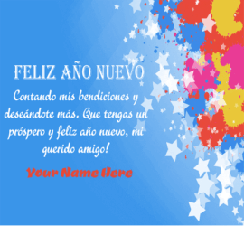 Happy New Year Greetings in Spanish