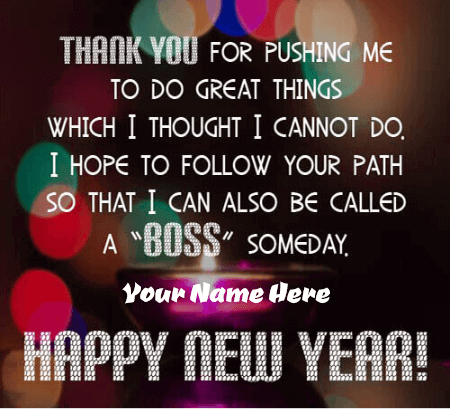 Happy New Year Quotes For Boss