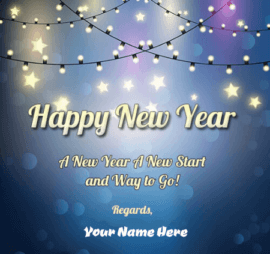 Happy New Year Wish With Name Edit