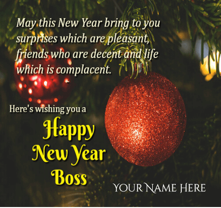 Happy New Year Wishes For Boss