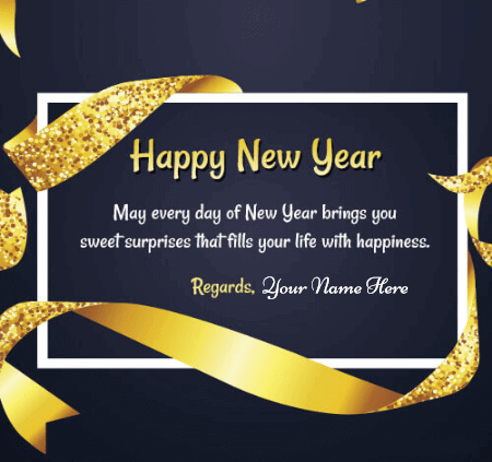 Happy New Year Wishes With Name