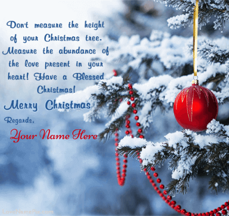 Lovely Merry Christmas Greeting Card