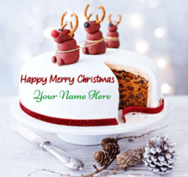 Merry Christmas Cake Wishes With Name