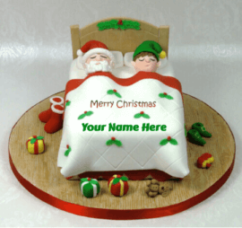 Merry Christmas Cake With Name