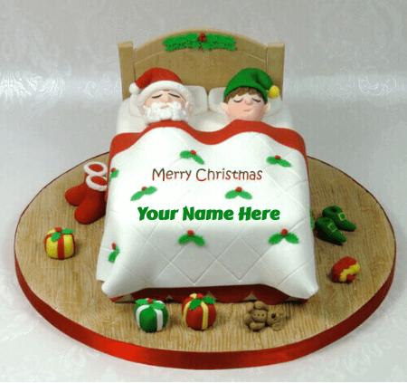 Merry Christmas Cake With Name