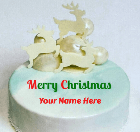 Merry Christmas Cakes With Name