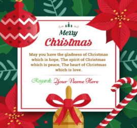 Merry Christmas Card With Name Edit