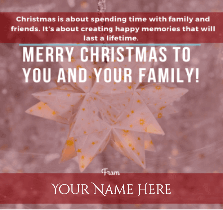 Merry Christmas Cards With Name Edit