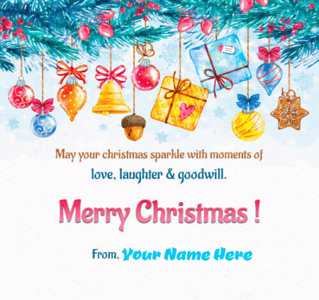 Merry Christmas Greeting Card For Family