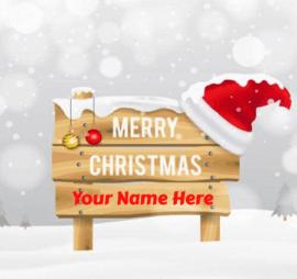 Merry Christmas Greeting Name