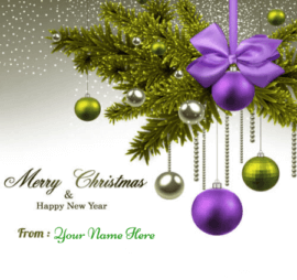 Merry Christmas New Year Greetings