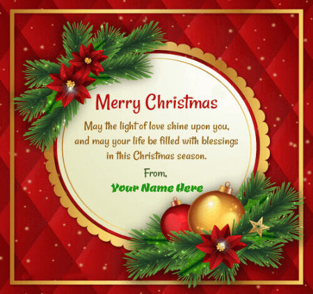 Merry Christmas Picture With Name