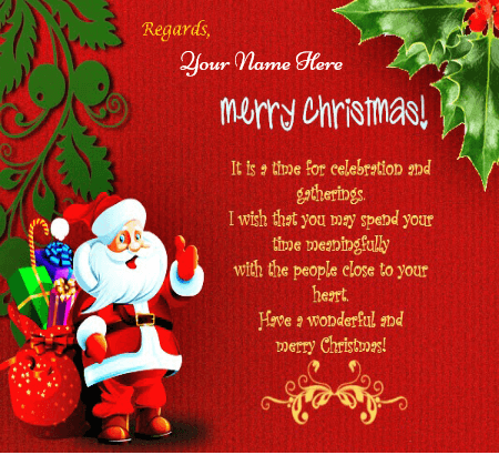 Merry Christmas Wishes Quotes With Name