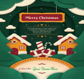 Merry Christmas Wishes With Name