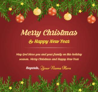 Short Christmas Wish With Name