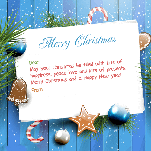 Beautiful Merry Christmas Card With Name Christmas Wishes