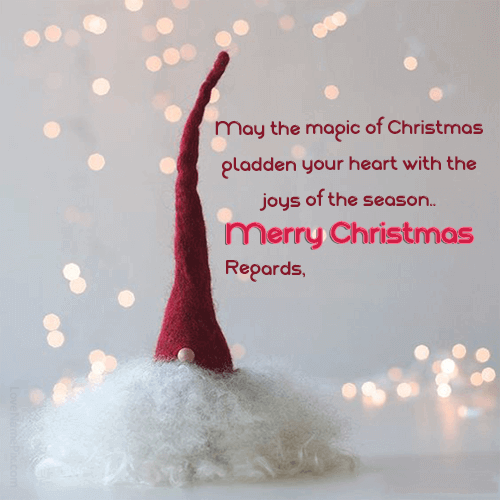 Beautiful Merry Christmas Card Christmas Wishes With Name