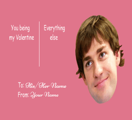 Romantic Valentines Day Meme Card