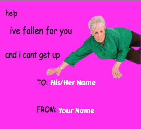 Valentines Day Meme Cards With Name