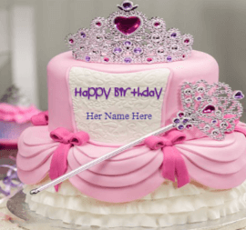 Crown cake for girls