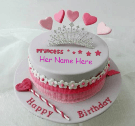 Beautiful crown cake for girls
