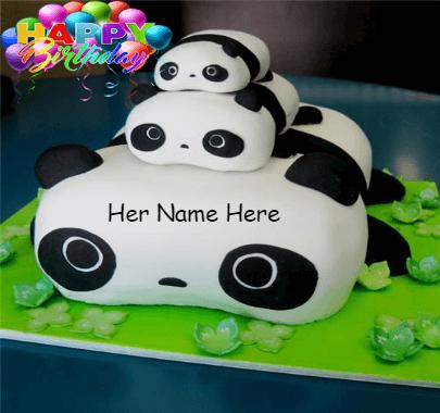 Panda cake for girls